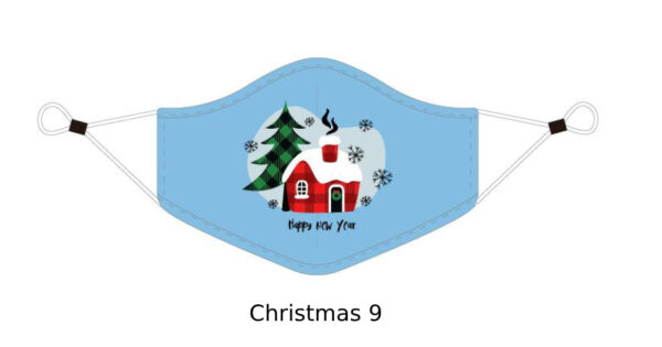 08 Adult CHRISTMAS Face Mask With Design