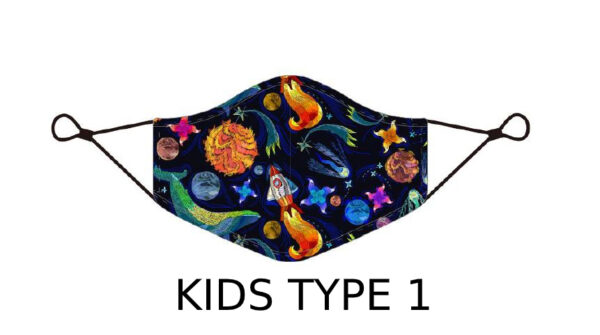 77 2 Kids Face Mask With Design